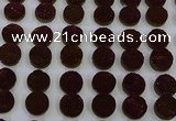 CGC122 16mm flat round druzy quartz cabochons wholesale