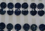 CGC132 18mm flat round druzy quartz cabochons wholesale