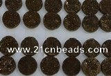 CGC141 20mm flat round druzy quartz cabochons wholesale