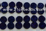 CGC142 20mm flat round druzy quartz cabochons wholesale