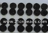 CGC143 20mm flat round druzy quartz cabochons wholesale