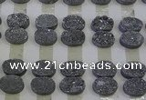 CGC184 13*18mm oval druzy quartz cabochons wholesale