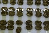 CGC187 13*18mm oval druzy quartz cabochons wholesale