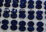 CGC191 15*20mm oval druzy quartz cabochons wholesale