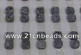 CGC221 12*12mm square druzy quartz cabochons wholesale