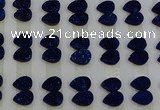 CGC230 10*14mm flat teardrop druzy quartz cabochons wholesale