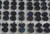 CGC245 12*16mm flat teardrop druzy quartz cabochons wholesale