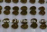 CGC268 15*20mm flat teardrop druzy quartz cabochons wholesale