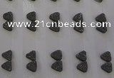 CGC64 8*8mm triangle druzy quartz cabochons wholesale