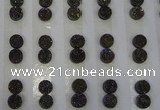 CGC86 8mm flat round druzy quartz cabochons wholesale