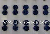 CGC91 10mm flat round druzy quartz cabochons wholesale