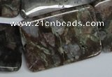 CGE05 15.5 inches 25*35mm rectangle glaucophane gemstone beads