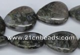 CGE08 15.5 inches 20*25mm flat teardrop glaucophane gemstone beads