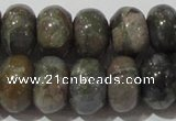 CGE110 15.5 inches 6*10mm rondelle glaucophane gemstone beads
