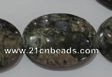CGE137 15.5 inches 25*35mm oval glaucophane gemstone beads