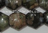 CGE174 15.5 inches 20*20mm hexagon glaucophane gemstone beads