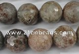 CGG17 15.5 inches 16mm faceted round ghost gemstone beads wholesale