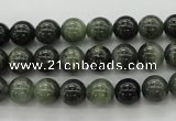 CGH03 15.5 inches 8mm round green hair stone beads wholesale