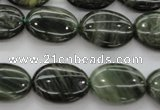 CGH46 15.5 inches 15*20mm oval green hair stone beads wholesale