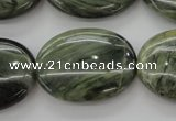 CGH48 15.5 inches 22*30mm oval green hair stone beads wholesale