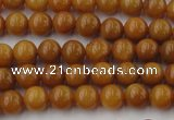 CGJ301 15.5 inches 6mm round goldstone jade beads wholesale