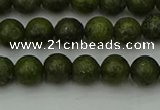 CGJ450 15.5 inches 4mm round green jasper beads wholesale