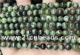 CGJ501 15.5 inches 6mm round green jade beads wholesale