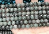 CGJ512 15.5 inches 8mm round green forst jasper beads wholesale