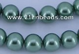 CGL226 5PCS 16 inches 12mm round dyed glass pearl beads wholesale
