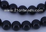 CGL285 5PCS 16 inches 10mm round dyed glass pearl beads wholesale