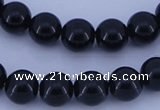 CGL286 5PCS 16 inches 12mm round dyed glass pearl beads wholesale