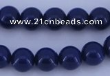 CGL893 5PCS 16 inches 10mm round heated glass pearl beads wholesale
