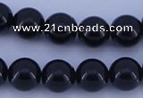 CGL903 10PCS 16 inches 6mm round heated glass pearl beads wholesale