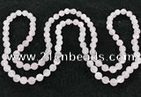 CGN1001 8mm round matte rose quartz 108 beads mala necklaces