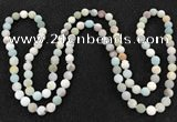 CGN1002 8mm round matte amazonite 108 beads mala necklaces