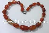 CGN105 20 inches 10*15mm - 20*30mm nuggets agate gemstone necklaces
