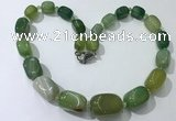 CGN109 20 inches 10*15mm - 20*30mm nuggets agate gemstone necklaces