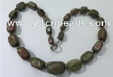 CGN127 22 inches 10*14mm - 20*30mm nuggets unakite necklaces
