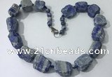 CGN149 19.5 inches 10*14mm - 20*30mm nuggets lapis lazuli necklaces
