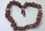 CGN162 18.5 inches 12*16mm - 13*18mm nuggets red agate necklaces