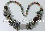 CGN332 20.5 inches chinese crystal & mixed gemstone beaded necklaces