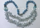 CGN516 23.5 inches chinese crystal & mixed gemstone beaded necklaces