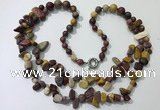 CGN542 27 inches fashion mookaite gemstone beaded necklaces