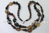 CGN549 23.5 inches striped agate gemstone beaded necklaces