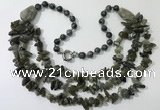CGN677 22 inches stylish labradorite gemstone beaded necklaces