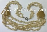 CGN780 23.5 inches stylish citrine gemstone chips necklaces