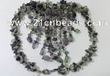 CGN828 20 inches stylish amethyst & prehnite statement necklaces
