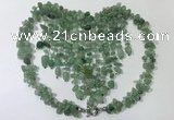 CGN839 20 inches stylish green aventurine statement necklaces