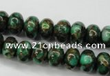 CGO121 15.5 inches 5*8mm rondelle gold green color stone beads