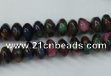 CGO21 15.5 inches 5*8mm rondelle gold multi-color stone beads